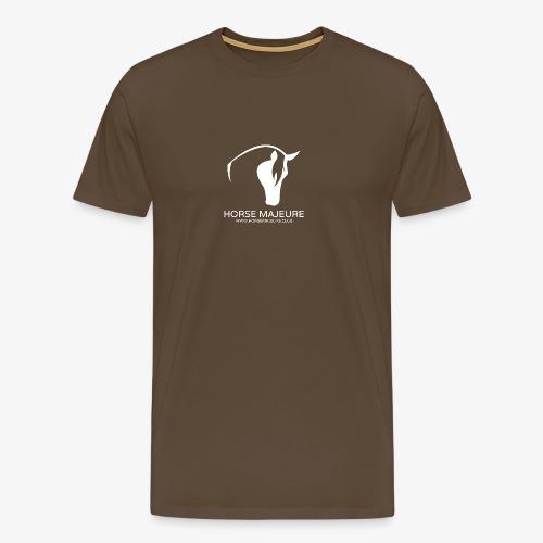 Horse Majeure Logo / Valkoinen - Miesten premium t-paita