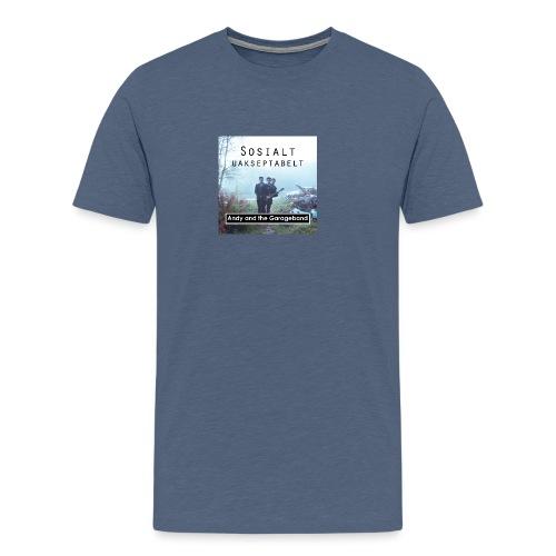 Sosialt Uakseptabelt - Premium T-skjorte for menn
