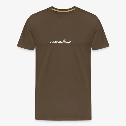 merveilleux. White - Men's Premium T-Shirt
