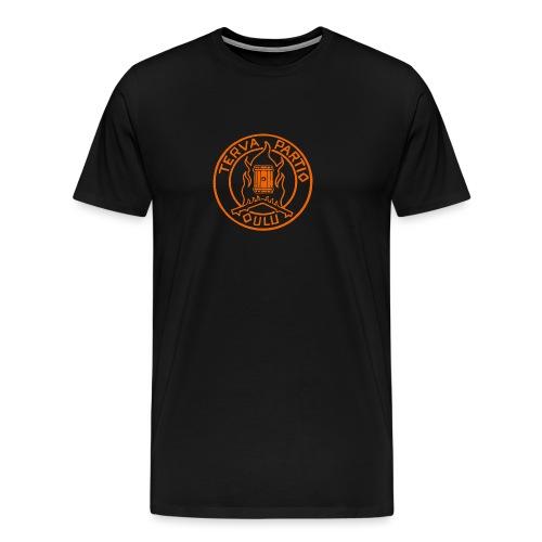 Tervapartio_oranssi - Miesten premium t-paita