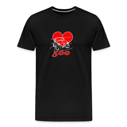 Mitica 500 Cuore - Amo la Mitica 500 - Maglietta Premium da uomo