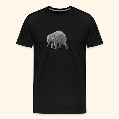 Baby elephant on a Mission - Men's Premium T-Shirt