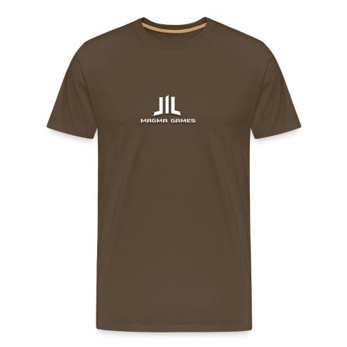 Magma Games mok zwart met - Mannen Premium T-shirt