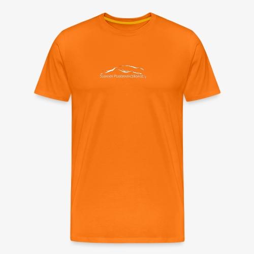 SUP logo valkea - Miesten premium t-paita