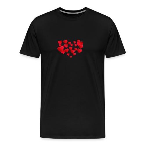 Heart T-Shirt - Men's Premium T-Shirt