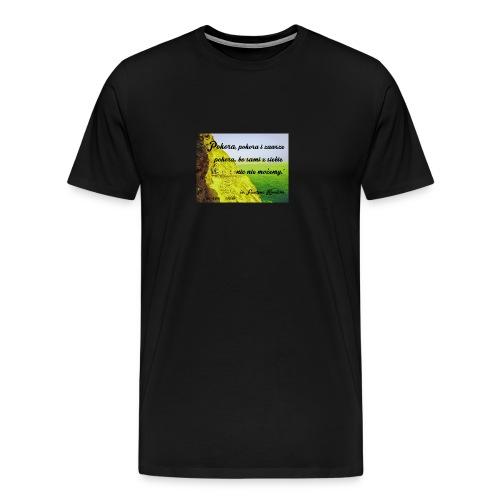 CYTATY FAUSTYNA KOWALSKA - Koszulka męska Premium
