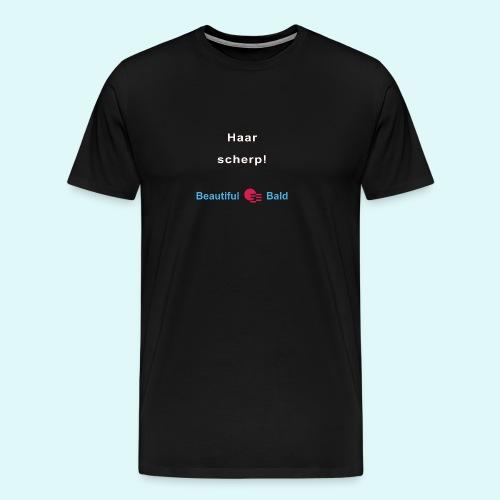 Haarscherp-w - Mannen Premium T-shirt