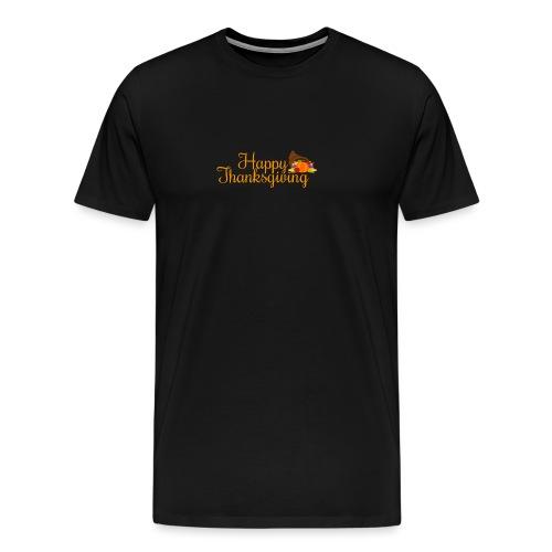 Happy Thanksgiving Words - Men's Premium T-Shirt