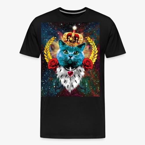 01 Blue Cat King Katze Queen Rosen - Männer Premium T-Shirt