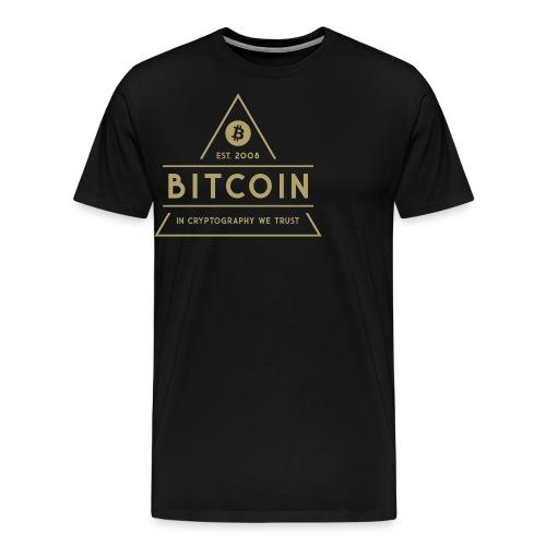 Bitcoin - Miesten premium t-paita