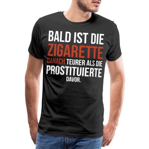 lustiges Raucher Shirt | Nichtraucher Zigarette - Männer Premium T-Shirt