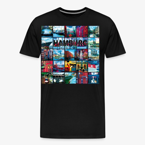 03 Faszination Hamburg Collage - Margarita-Art - Männer Premium T-Shirt