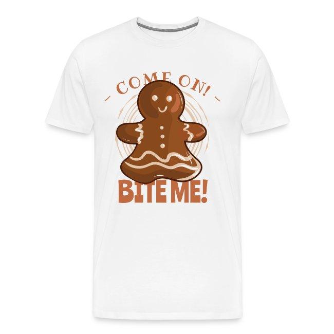 Perfekte Weihnachtskekse.Beiß Mich Lebkuchen Lustiges Weihnachten Geschenk Männer Premium T Shirt