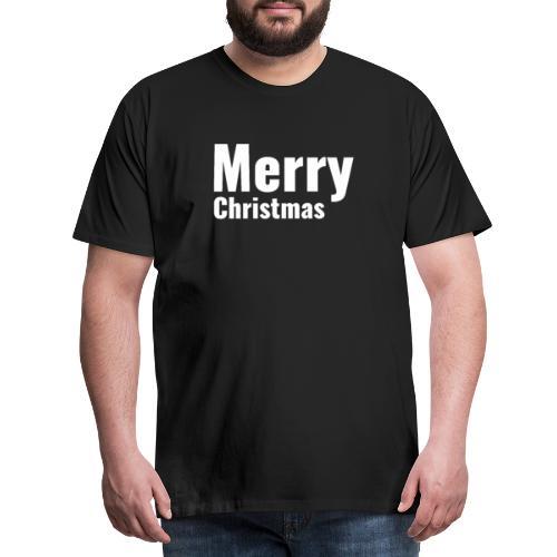 Merry Christmas / Frohe Weihnachten Mann Frau gift - Männer Premium T-Shirt