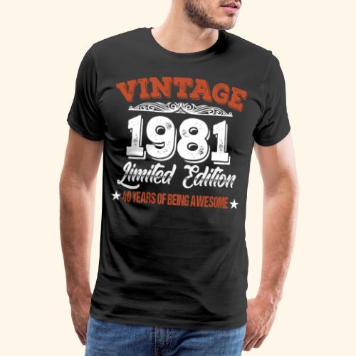 40. Geburtstag Geschenkidee Geburtstagsgeschenk - Männer Premium T-Shirt