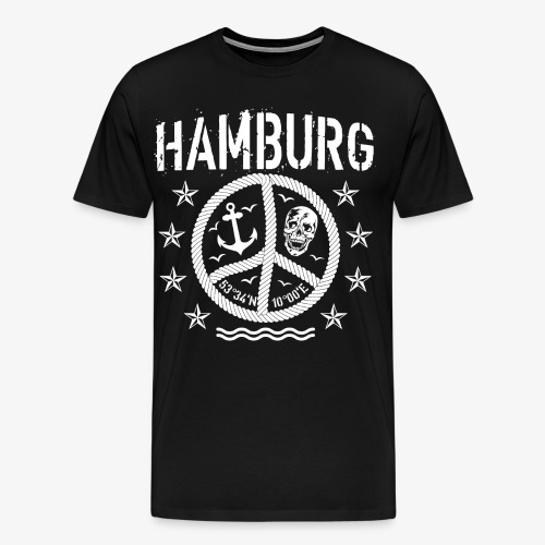 105 Hamburg Peace Anker Seil Koordinaten - Männer Premium T-Shirt