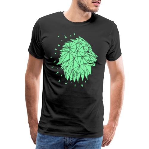 Lion - Mint - Männer Premium T-Shirt