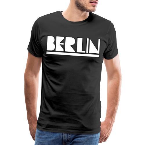 Berlin Modern Typo Berliner Geschenk - Koszulka męska Premium
