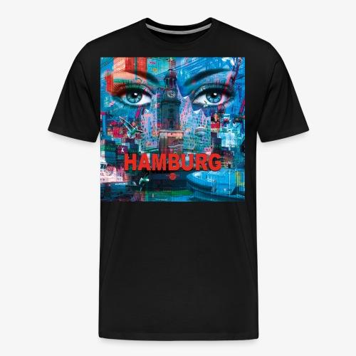 01 Faszination Hamburg Blaue Augen Elphi Michel - Männer Premium T-Shirt