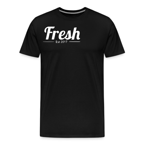 white logo - Men's Premium T-Shirt