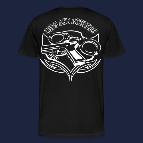 raglan CxR tee with large back logo - Men's Premium T-Shirt