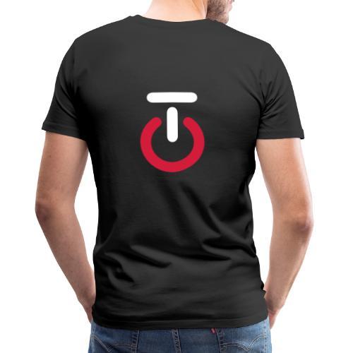 Logo lille v5 - Herre premium T-shirt