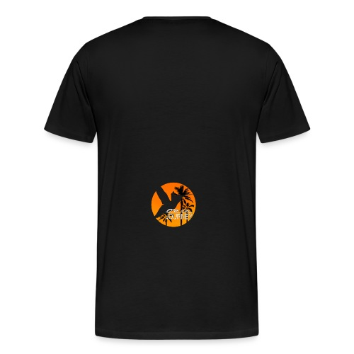 Logo on a journey komplett orange mit palmen Kopie - Männer Premium T-Shirt