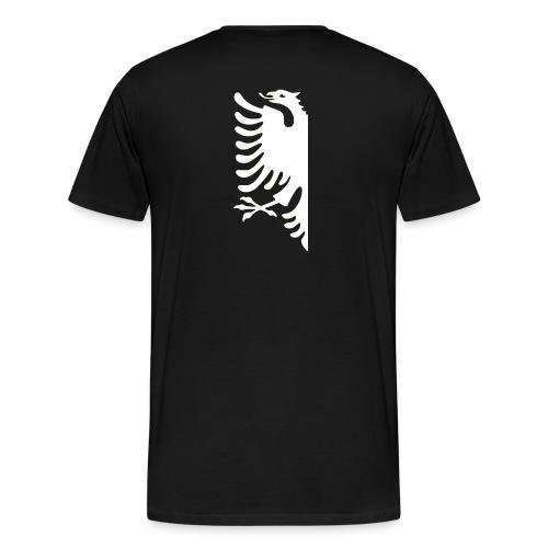 albanian half white.png - Männer Premium T-Shirt
