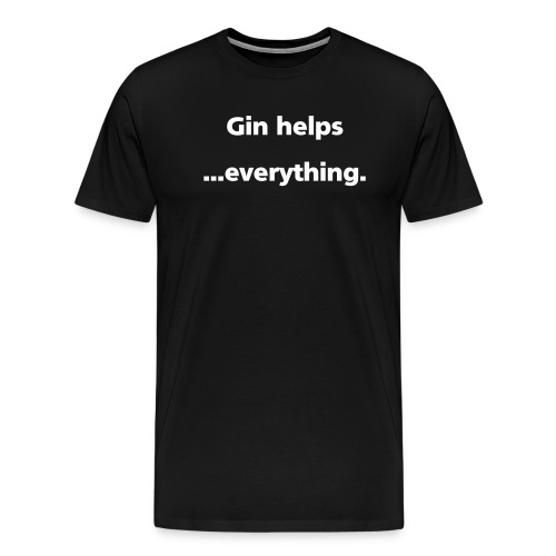 ginHelps simple - Men's Premium T-Shirt