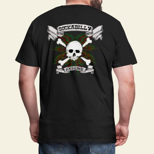 Rockabilly Raredog Skull - Herre premium T-shirt