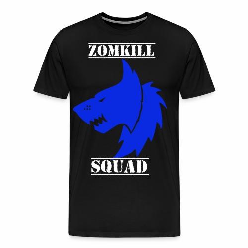 wolf zomk dblue png - Men's Premium T-Shirt