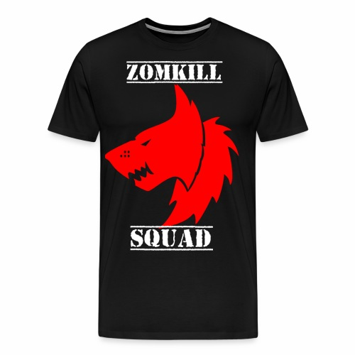 wolf zomk red png - Men's Premium T-Shirt