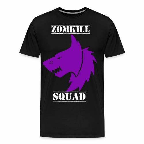 wolf zomk purple png - Men's Premium T-Shirt