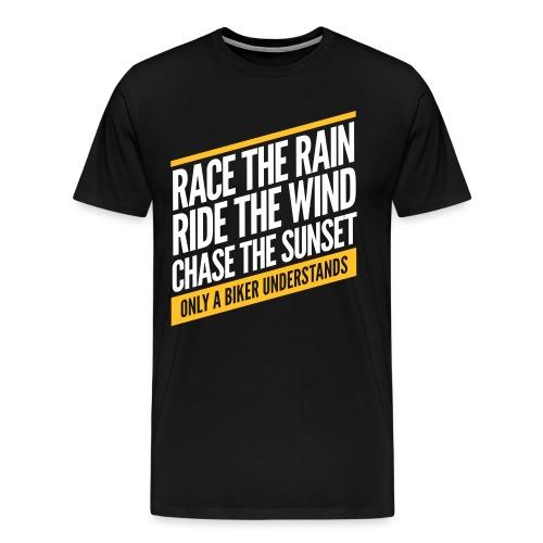 Race the rain - Männer Premium T-Shirt
