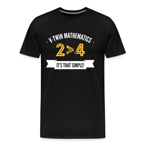 V-Twin mathematics - Männer Premium T-Shirt