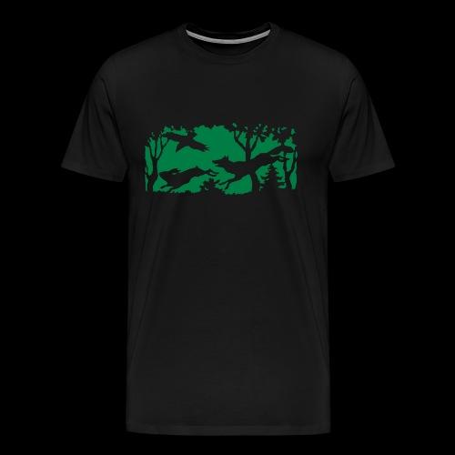 gs_motiv-hase-fuchs-white - Männer Premium T-Shirt