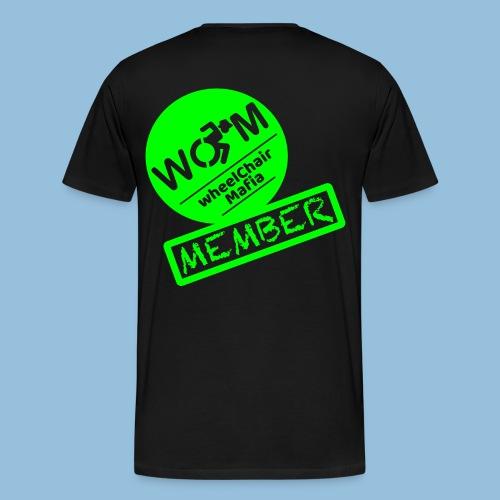 WheelChair Mafia member 001 - Mannen Premium T-shirt