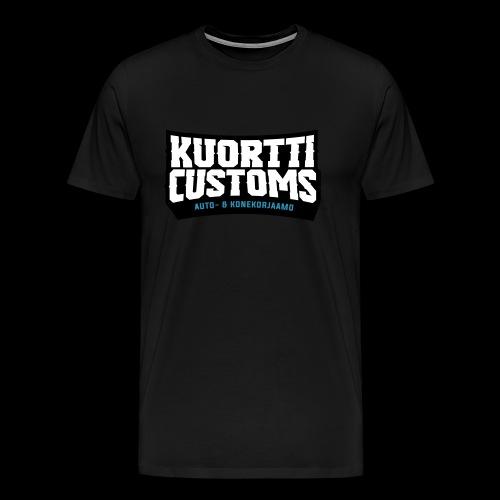 kuortti_customs_logo_main - Miesten premium t-paita