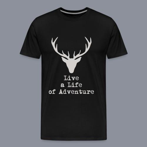 logo lalia hellbraun 3500px png - Männer Premium T-Shirt