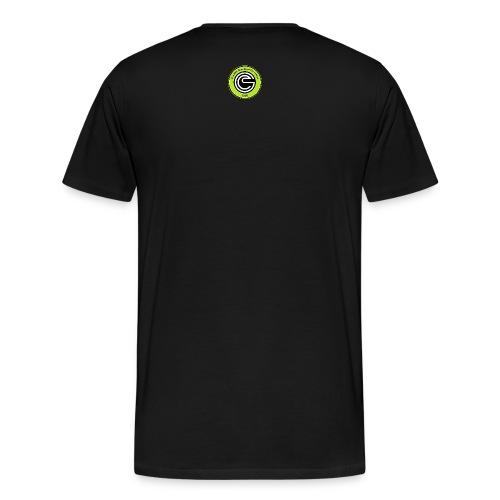 Logo GCC verde fluo errea senza contorno Copia png - Maglietta Premium da uomo