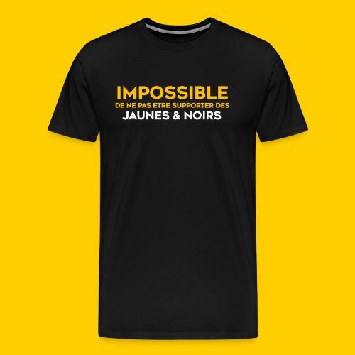 Impossible de ne pas.. Jaunes & Noirs - T-shirt Premium Homme