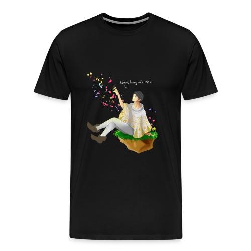 komm flieg mit mir ohne streifen png - Männer Premium T-Shirt