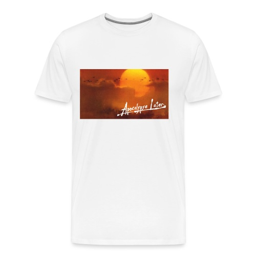 Just a little later - Herre premium T-shirt