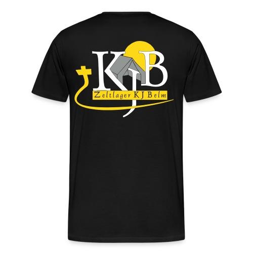 kjb logo zeltlager white - Männer Premium T-Shirt