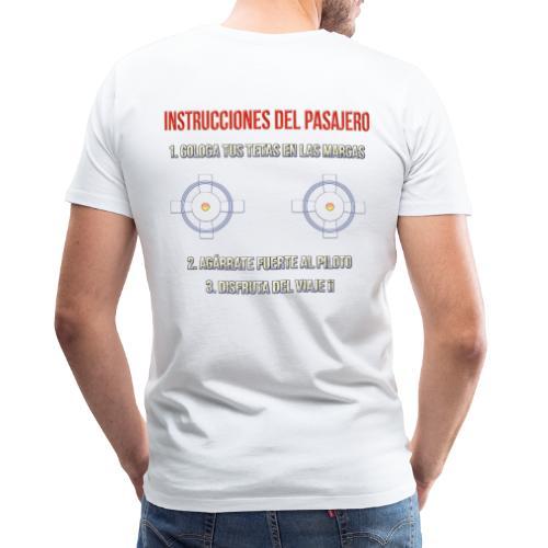 Instrucciones Pasajero - Camiseta premium hombre