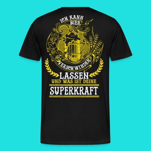 Bier Superkraft - Männer Premium T-Shirt