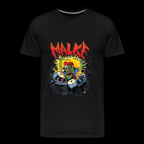 Malke - Man Premium White - Monster - Black - Camiseta premium hombre