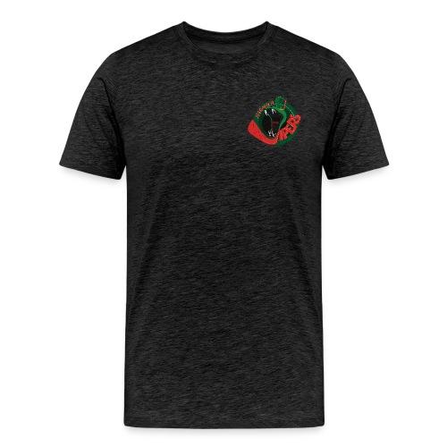 vipers logo big color rippled png - Männer Premium T-Shirt