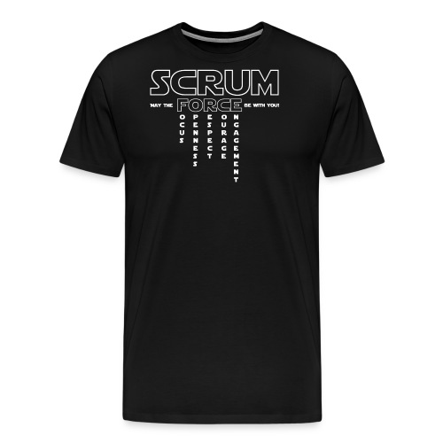 SCRUM FORCE - May the FOR - Männer Premium T-Shirt