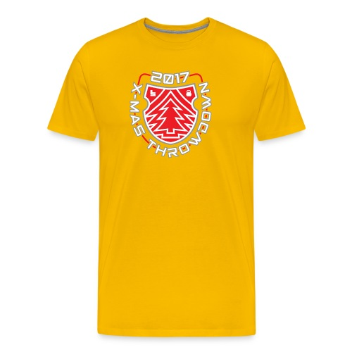 X mas TD front shield red - Männer Premium T-Shirt